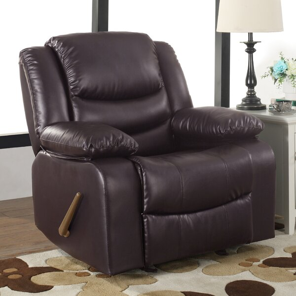 Classic Overstuffed Manual Rocker Recliner by Madi