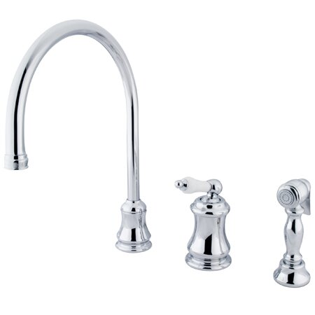 Touchless Single Handle Kitchen Faucet with Side Spray by Elements of Design
