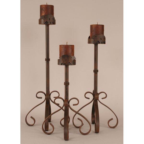 Rustic Living 3 Piece Metal Candlestick Set by Coast Lamp Mfg.