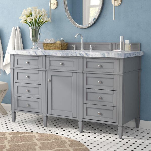 Deleon 60 Single Urban Gray Bathroom Vanity Set by Darby Home Co
