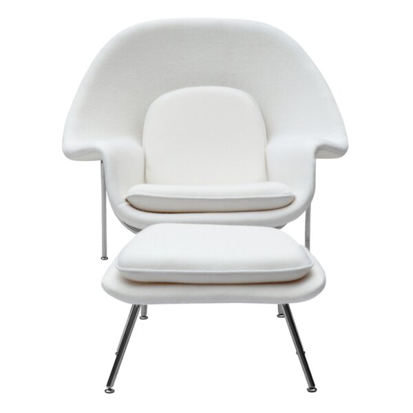 Abbate Lounge Chair and Ottoman by Corrigan Studio