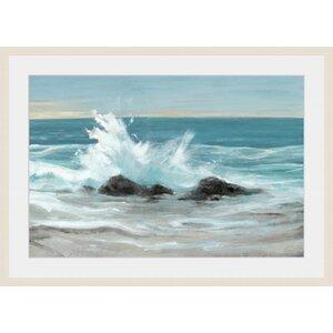 'Crashing Wave II' Framed Painting Print by Global Designs