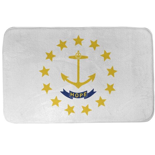 Fawcett Rhode Island Flag Rectangle Non-Slip Bath Rug