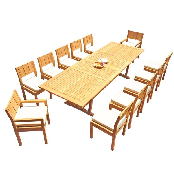 Shoreview 13 Piece Teak Dining Set by Rosecliff Heights