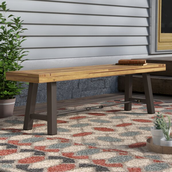 Testwuide Outdoor Wooden Picnic Bench by Union Rustic