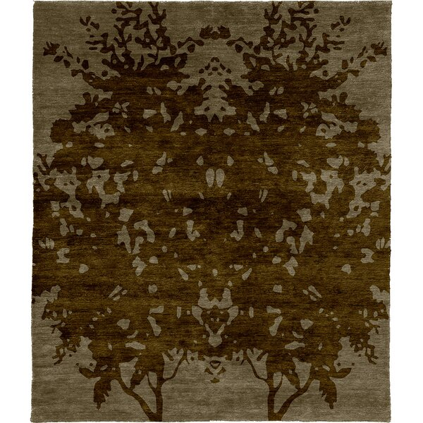 One-of-a-Kind Rilo Hand-Knotted Traditional Style Brown 9' x 12' Wool Area Rug