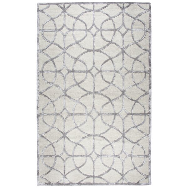 Beryl Hand Tufted Wool Ivory Area Rug by Ivy Bronx
