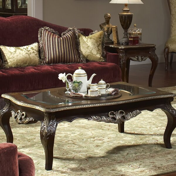 Imperial Court Coffee Table with Tray Top by Michael Amini
