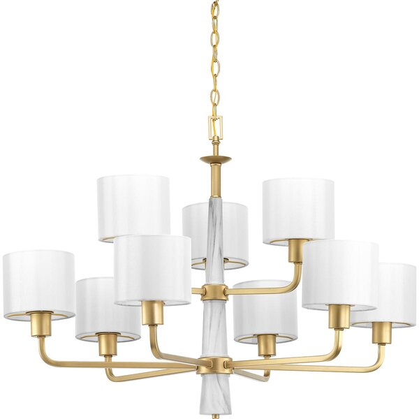 Jancis 9 - Light Shaded Tiered Chandelier By Mercer41