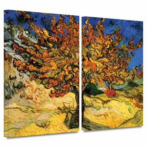 'Mulberry Tree' by Vincent Van Gogh 2 Piece Painting Print on Wrapped Canvas Set by ArtWall