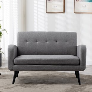 Finkle 50.5 Square Arm Loveseat by Hashtag Home