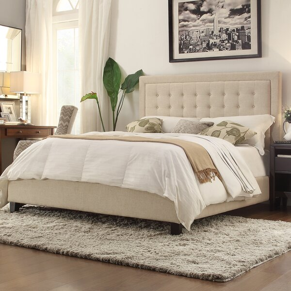 Amazing Woodside Upholstered Standard Bed By Three Posts 2019 Sale