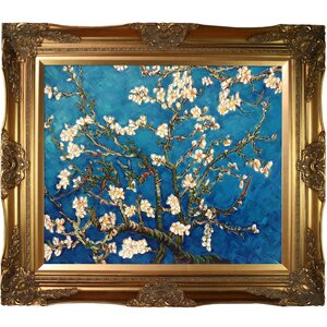 'Branches of an Almond Tree in Blossom' by Vincent Van Gogh Horizontal Rectangle Framed Painting by Astoria Grand