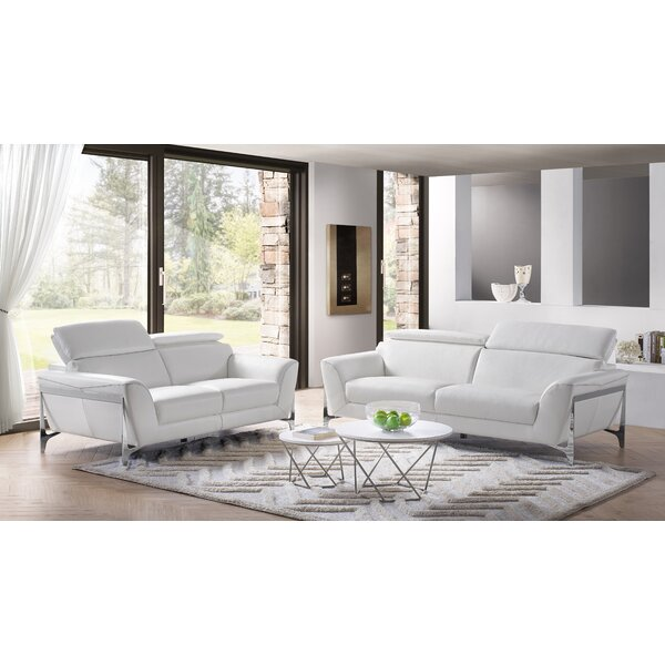 Binghampton 2 Piece Leather Living Room Set By Orren Ellis