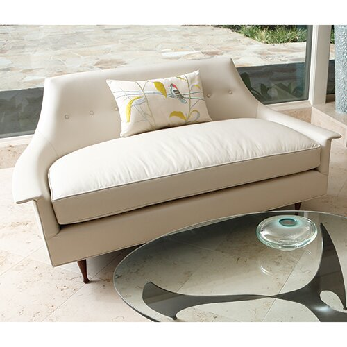 Perfect Cost Brigitte Leather Loveseat by Global Views by Global Views