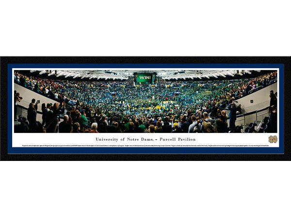 NCAA Notre Dame, University of - Basketball by Christopher Gjevre Framed Photographic Print by Blakeway Worldwide Panoramas, Inc