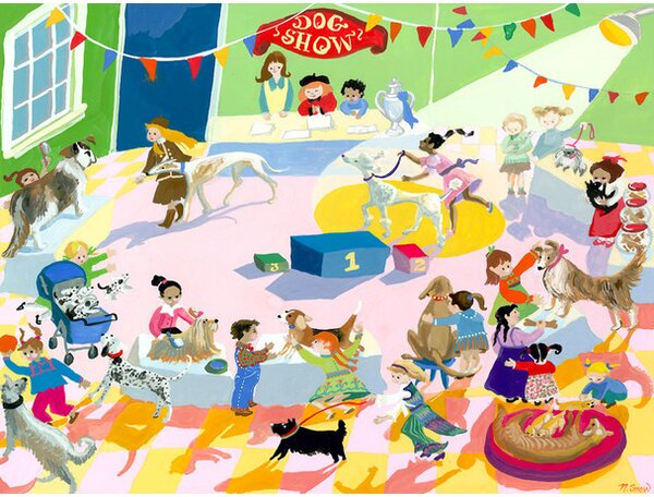 Dog Show Canvas Art by Oopsy Daisy