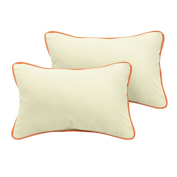 Holton Sunbrella Outdoor Lumbar Pillow (Set of 2) by Rosecliff Heights