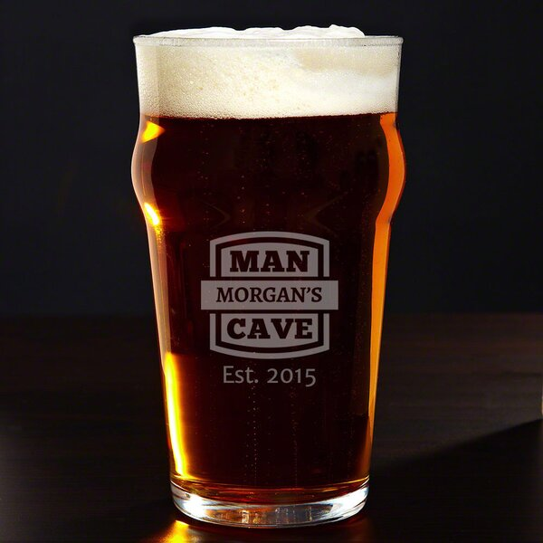 Man Cave Personalized 20 oz. Glass Pint Glass by Home Wet Bar