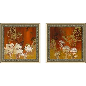'One Day in May II' 2 Piece Framed Acrylic Painting Print Set Under Glass by Zipcode Design