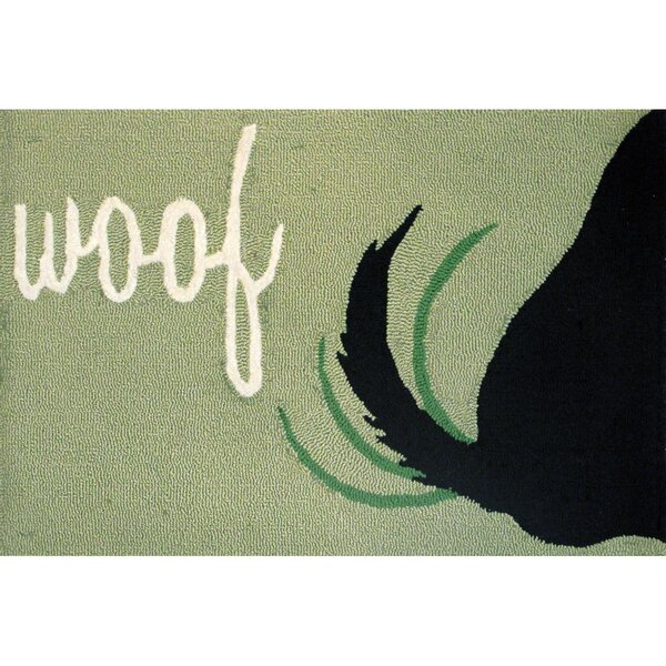Huffman Woof Hand-Tufted Green Indoor/Outdoor Area Rug by Winston Porter