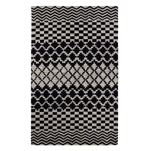 Dream Handwoven Flatweave Wool Gray/Black Area Rug by Dynamic Rugs