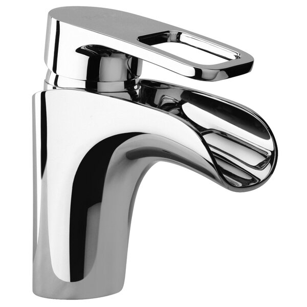 J10 Bath Series Single Loop Handle Bathroom Faucet With Waterfall Spout By Jewel Faucets