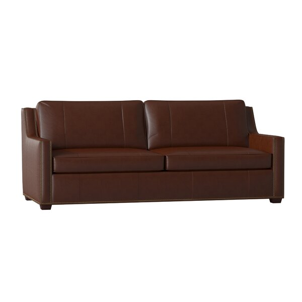 Awesome Ward Leather Sofa by Bradington-Young by Bradington-Young