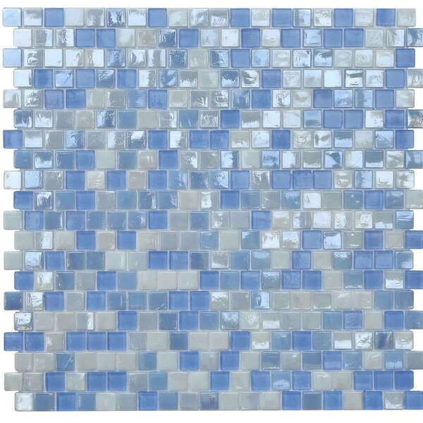 Opal 0.63 x 0.63 Glass Mosaic Tile in Victoria Falls by Kellani