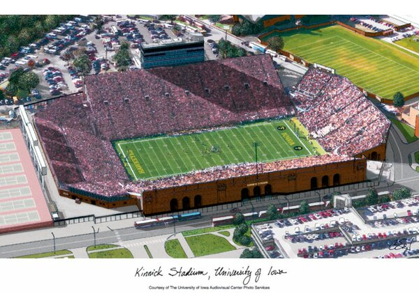 NCAA Iowa Hawkeyes: Kinnick Stadium Lithograph Photographic Print by Campus Images