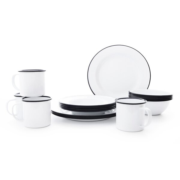 Starter 16 Piece Dinnerware Set, Service for 4 by Crow Canyon Home