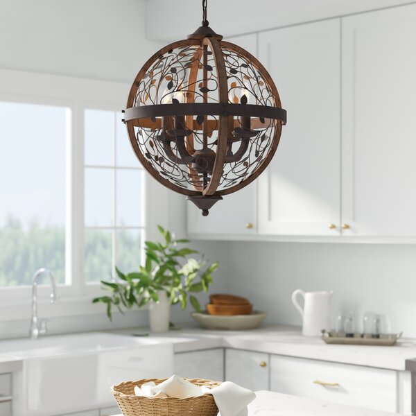Campeaux 4-Light Candle Style Globe Chandelier by One Allium Way One Allium Way