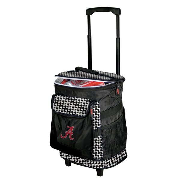 48 Can Alabama Houndstooth Rolling Cooler by Logo Brands