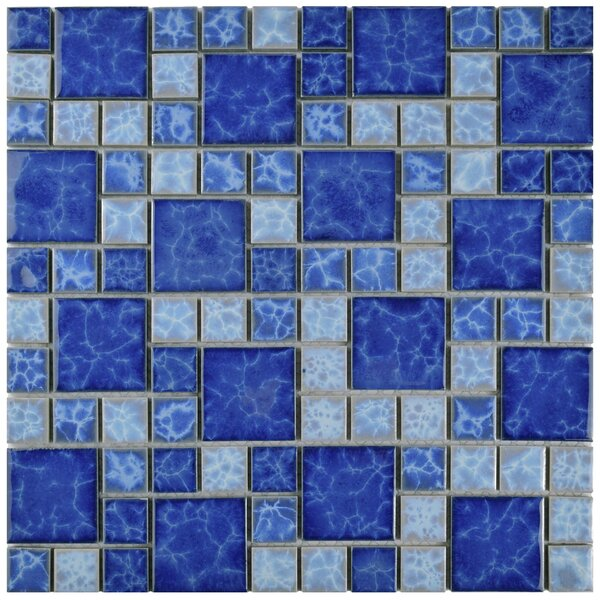 2 x 2 Porcelain Mosaic Tile in Adriatic by EliteTile