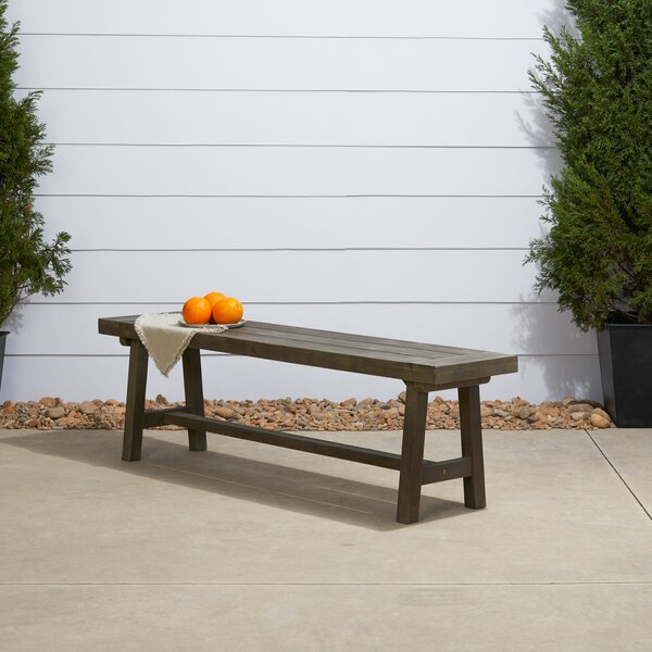 Southport Patio Dining Wooden Picnic Bench by Gracie Oaks