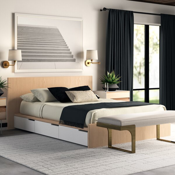 Modu-Licious Upholstered Storage Platform Bed by Blu Dot