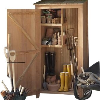 Western Red Cedar 2 ft. 10 in. W x 1 ft. 11 in. D Wooden Vertical Tool Shed by All Things Cedar