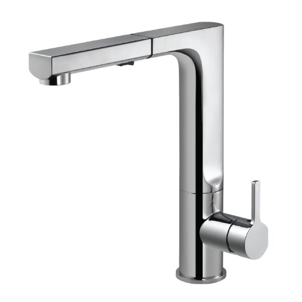 Ascend Integrated Pull Out Single Handle Kitchen Faucet by Houzer