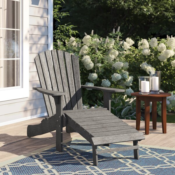Rex Eucalyptus Adirondack Chair With Ottoman By Beachcrest Home