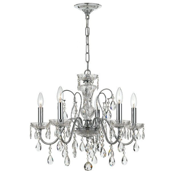 Sanabria 5 - Light Unique / Statement Empire Chandelier with Wrought Iron Accents by House of Hampton House of Hampton