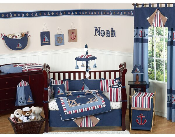 Nautical Nights 9 Piece Crib Bedding Set by Sweet Jojo Designs