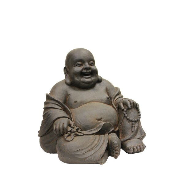 Happy Sitting Buddha Statue by Hi-Line Gift Ltd.