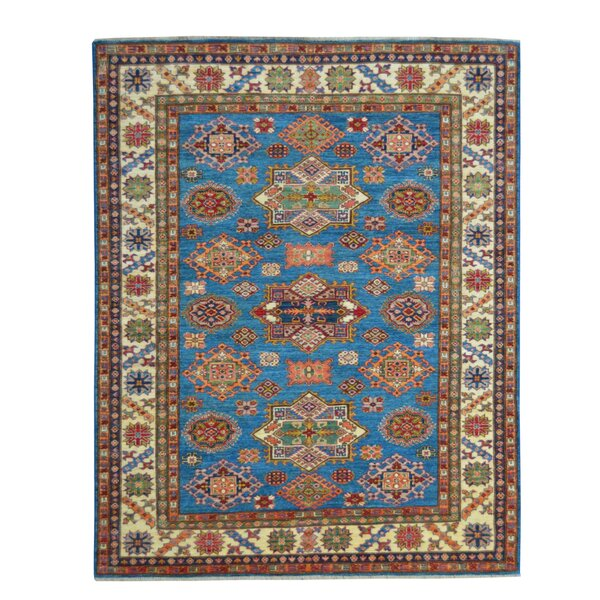 Kazak Hand-Knotted Blue Area Rug by Wildon Home ®