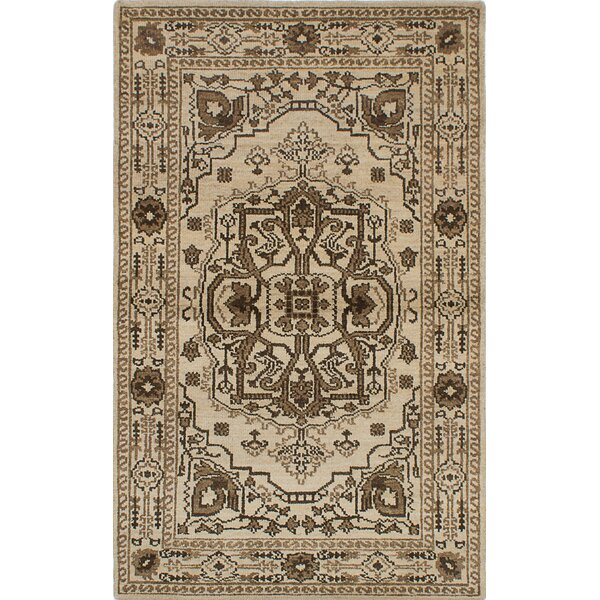 One-of-a-Kind Groh Hand-Woven Cream Area Rug by Isabelline