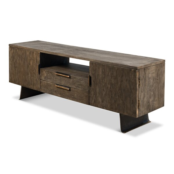 Zariah Solid Wood TV Stand For TVs Up To 70