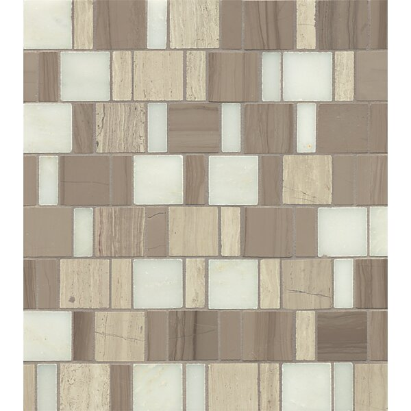 Maison Random Sized Marble Mosaic Tile in Penthouse by Bedrosians