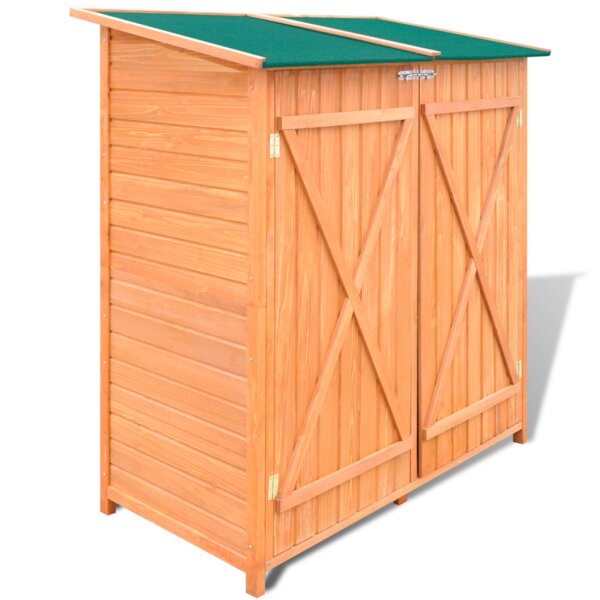 3 Ft. 0.5 In. W X 2 Ft. 6 In. D Solid Wood Vertical Tool Shed By VidaXL