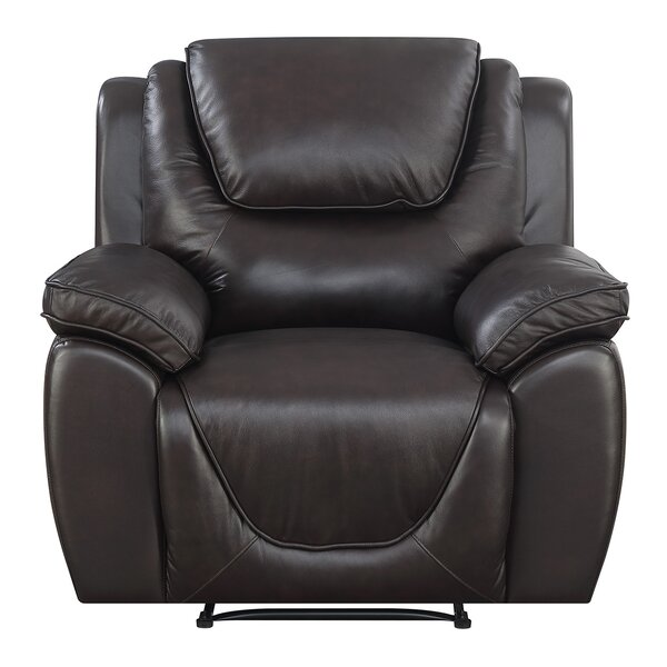 Rish Leather Recliner by Latitude Run