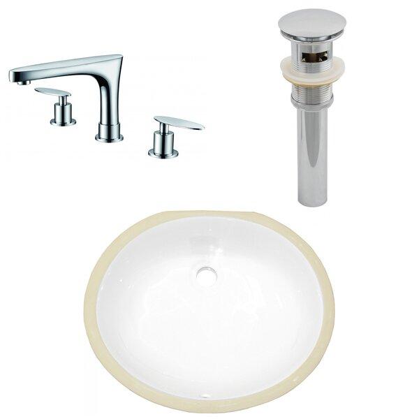 16.5 W Csa Oval Undermount Sink Set