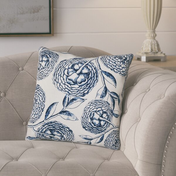 Jud Blooms Antique Flower Throw Pillow by Laurel Foundry Modern Farmhouse